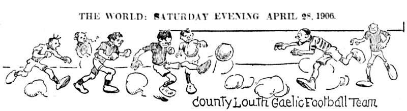 Winged Fist Edgren Cartoon County Louth Football